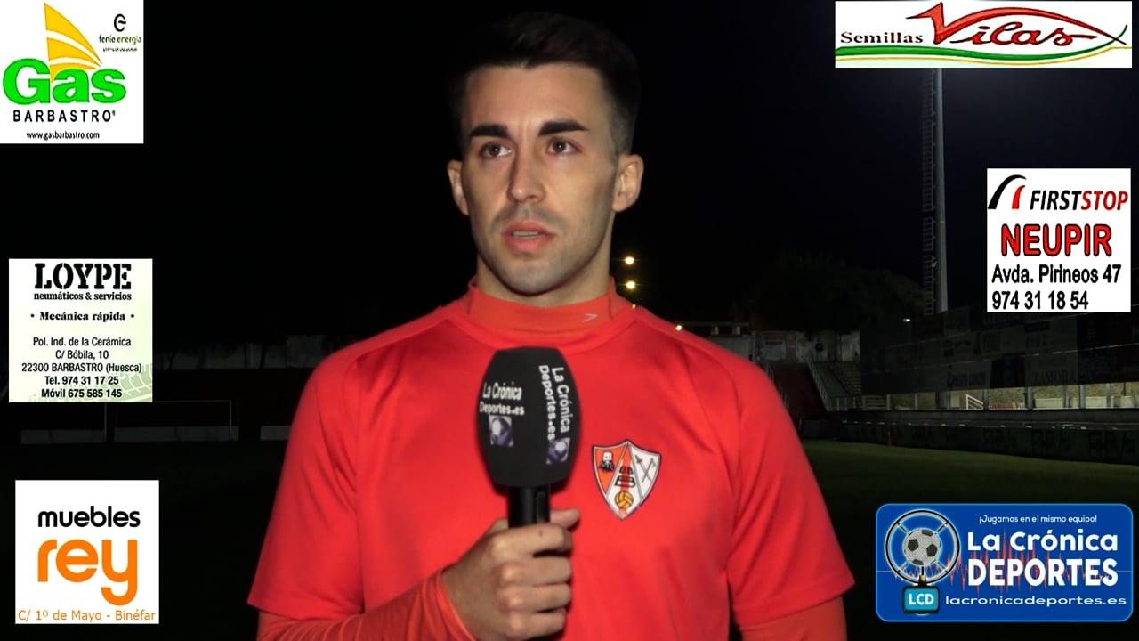LA PREVIA / Deportivo Aragón - UD Barbastro / PACO BLASCO (Jugador Barbastro) Jornada 7 / 3ª División