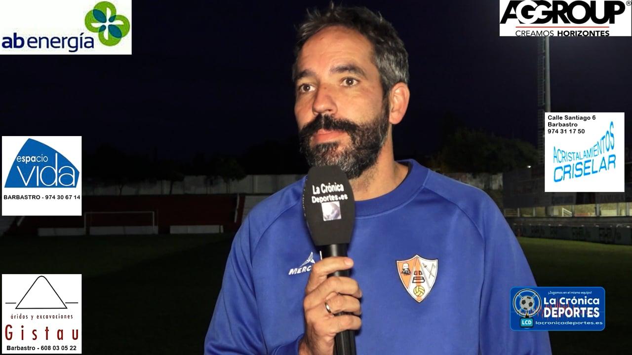 LA PREVIA / Deportivo Aragón - UD Barbastro / RICHI GIL (Entrenador Barbastro) Jornada 7 / 3ª División