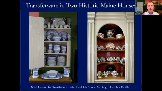 Transferware in Two Historic Maine Houses