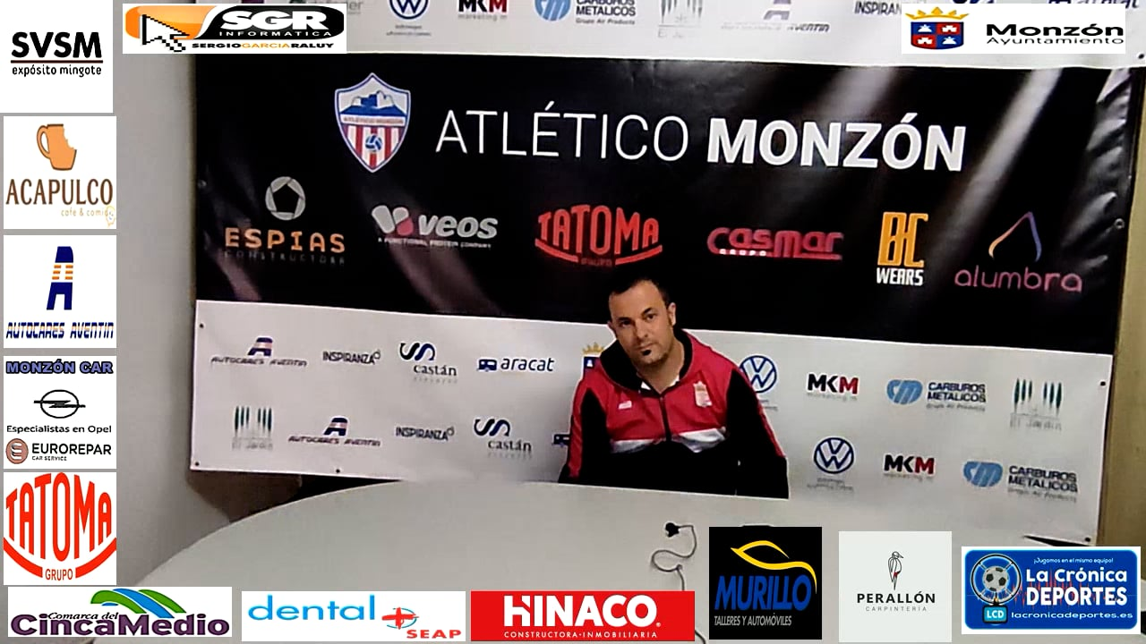 JAVIER ROMERO (Entrenador Illueca) AT Monzón 0-1 Illueca / J 7 / 3ª División