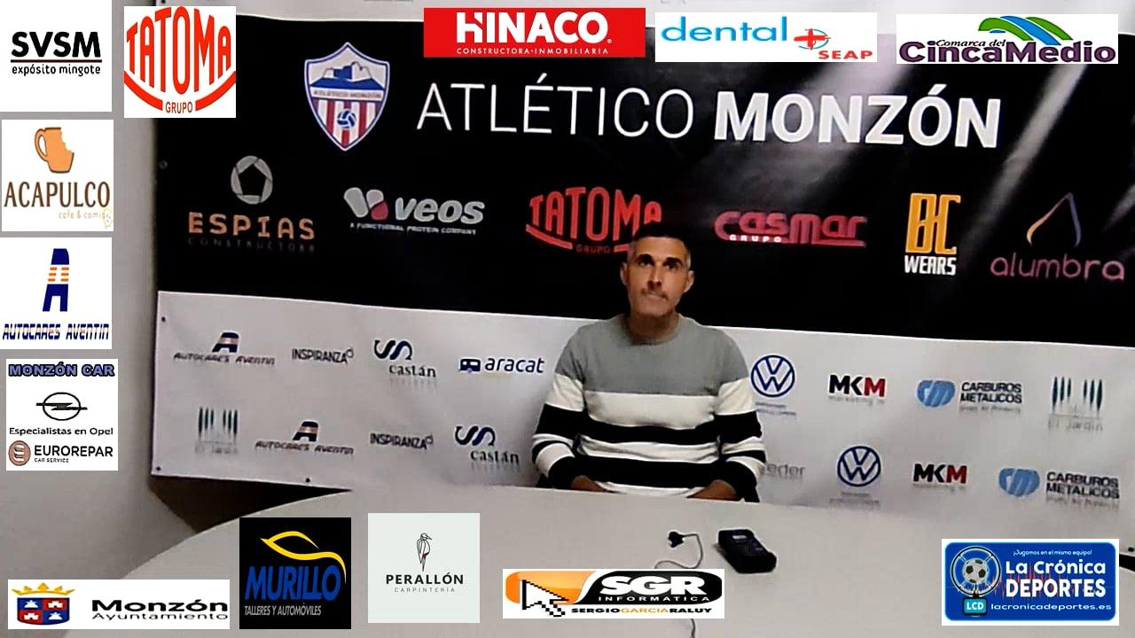 CRISTIAN ABAD (Entrenador Monzón) AT Monzón 0-1 Illueca / J 7 / 3ª División