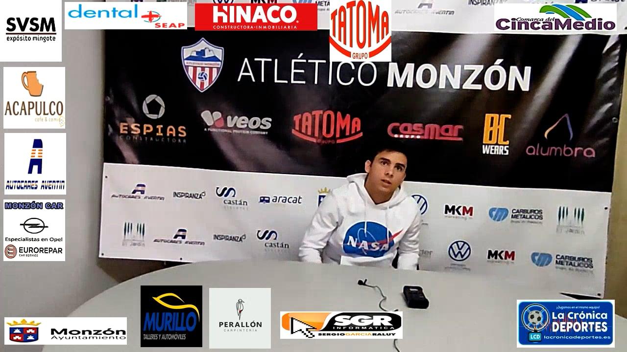 RAÚL SAMITIER (Jugador Monzón) AT Monzón 0-1 Illueca / J 7 / 3ª División