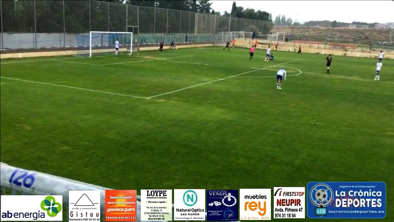 (RESUMEN y GOLES) Deportivo Aragón 3-1 UD Barbastro / Jornada 7 / 3ª División