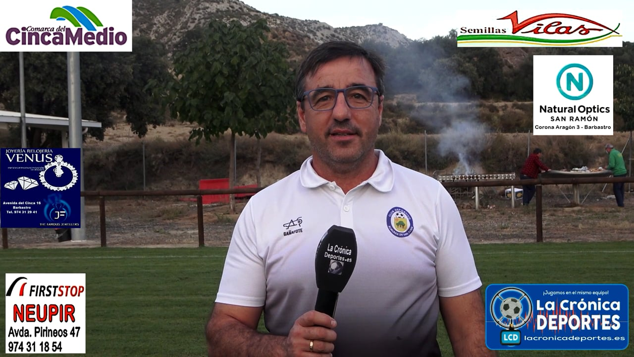 MANOLO CARRASCO (Entrenador Almunia S J) Almunia S Juan 1-1 P. Ferranca Tella / Jornada 6 / Preferente - Gr 1