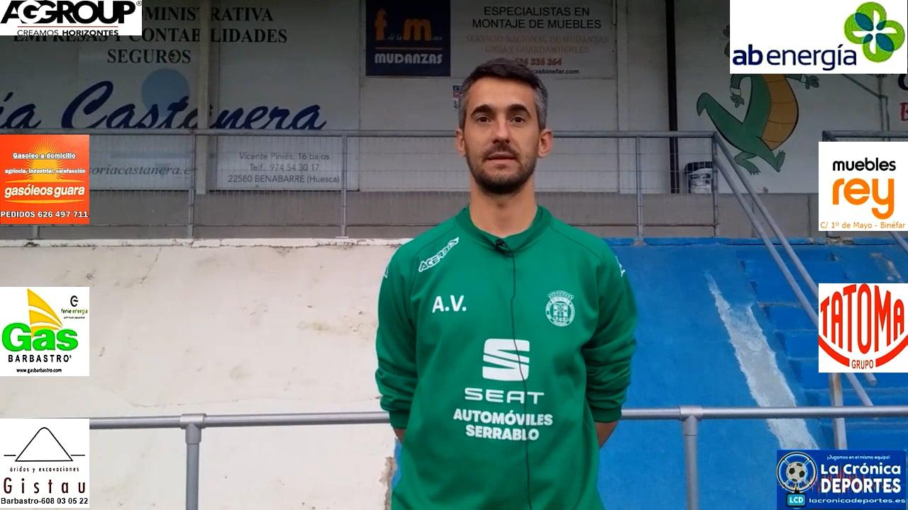 ÁNGEL VARELA (Entrenador JACETANO) TAMARITE 3-0 JACETANO / Jornada 6 / Preferente - Gr 1