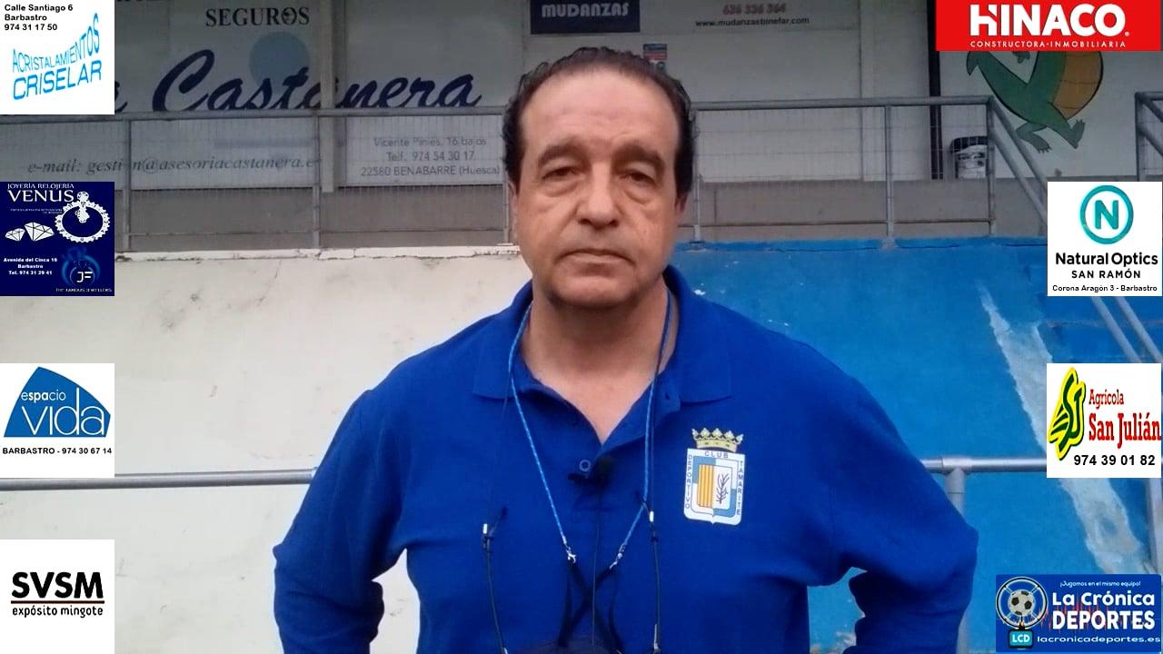 FÉLIX JIMÉNEZ (Entrenador CDJ TAMARITE) TAMARITE 3-0 JACETANO / Jornada 6 / Preferente - Gr 1
