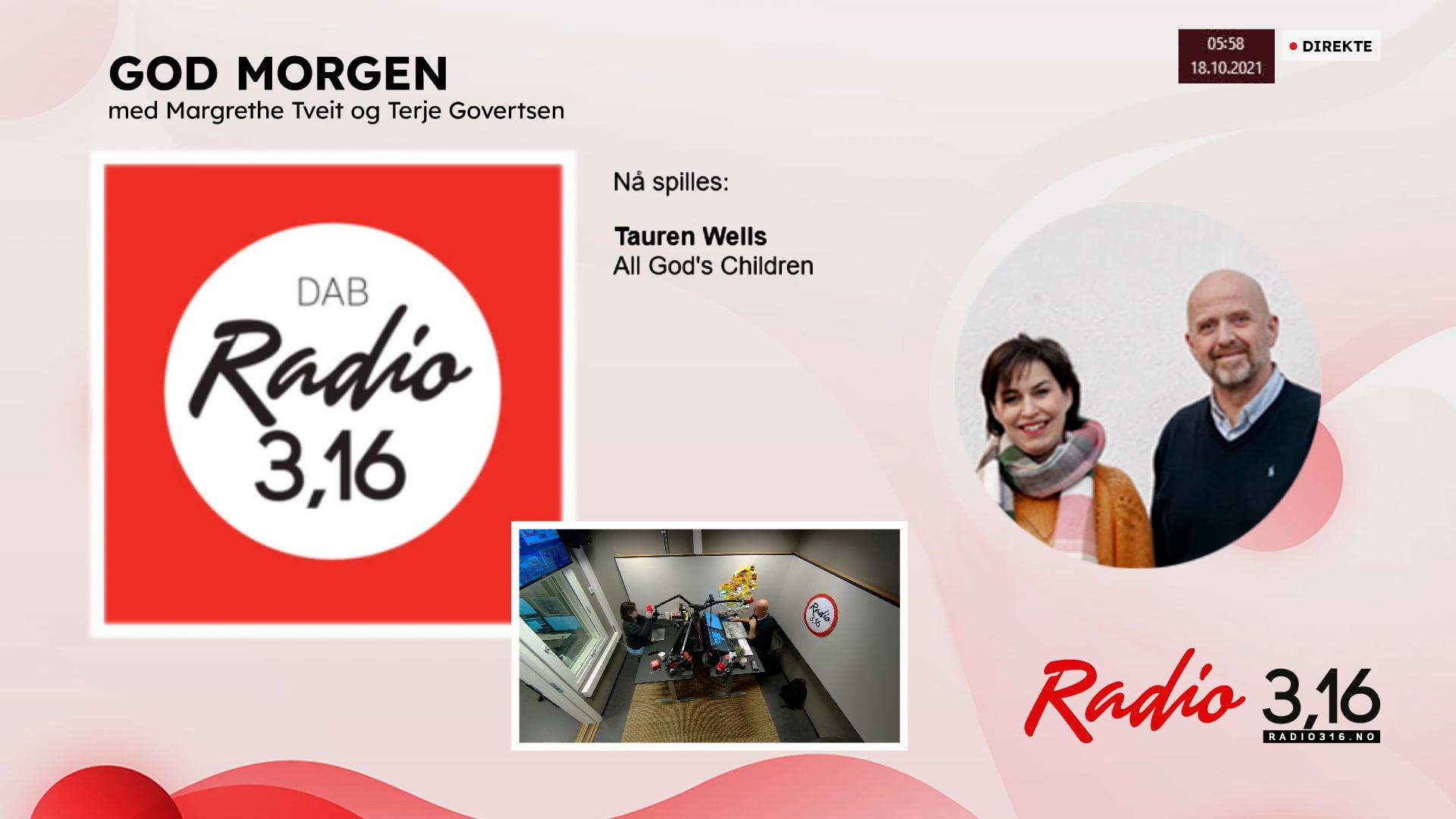 Radio 3,16 | 18 oktober 2021 - God Morgen med Margrethe og Terje