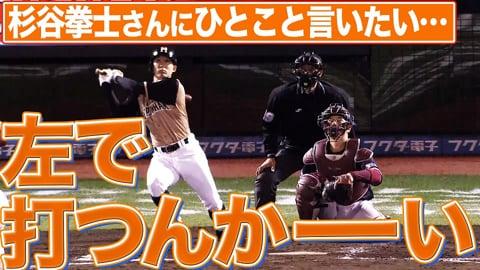 【祝・三塁打】ファイターズ・杉谷拳士『左で打つんかーーーーーい!』