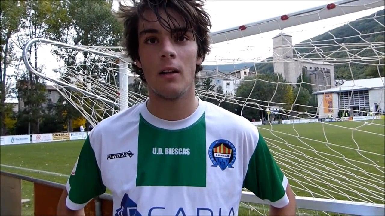 JAIME REQUES (Jugador Biescas) UD Biescas 2-2 CD Binéfar / Jornada 7 / 3ª División / Fuente Deporte Cantera Sabiñánigo