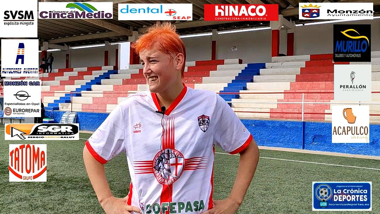 LAURA BORRÁS (Jugadora Ciudad de Monzón femenino) Ciudad de Monzón 1-1 Fuensport / J 4 / 1ª Territorial aragonesa