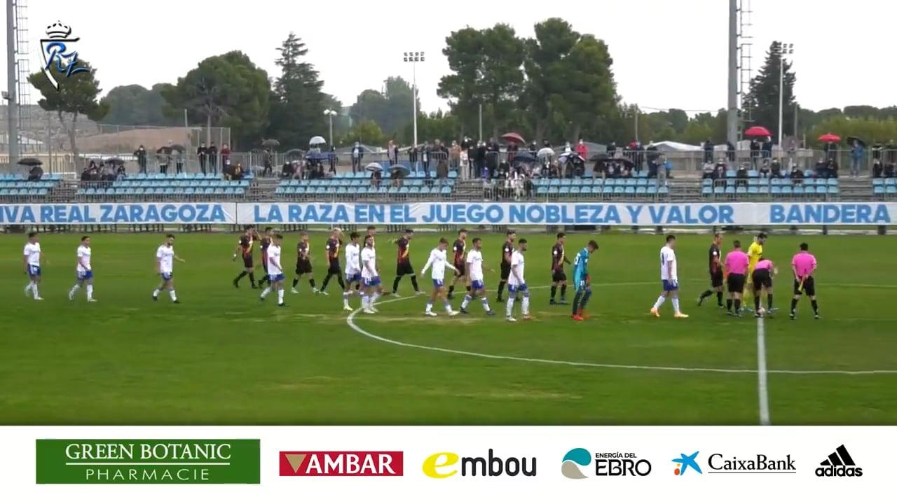 (SOLO LOS GOLES) Deportivo Aragón 3-1 UD Barbastro / Jornada 7 / 3ª División / Fuente Twitter Cantera Real Zaragoza