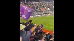 I tifosi della Fiorentina contestano Vlahovic