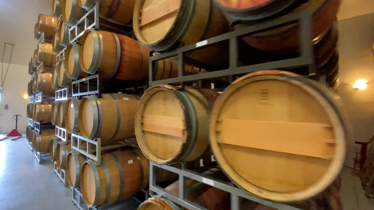 Barrel Room - Two Rivers Winery