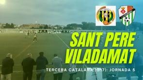 Resum FC Sant Pere Pescador 0 - 2 CF Viladamat
