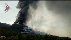La Palma, time lapse dell'eruzione del vulcano Cumbre Vieja