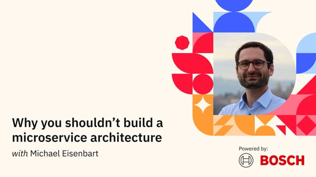 Why you shouldn't build a microservice architecture