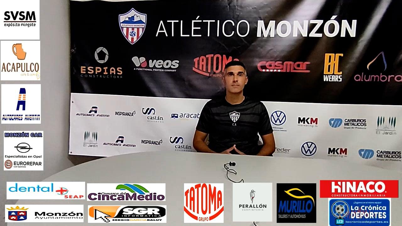 LA PREVIA / Calamocha - At.Monzón / J 8 / Cristian Abad (Entrenador AT Monzón) 3ª División