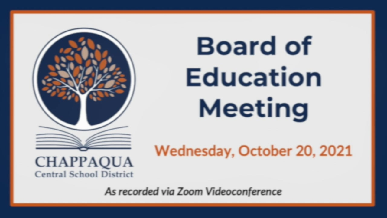 CCSD Special Board of Education Meeting 10/20/21