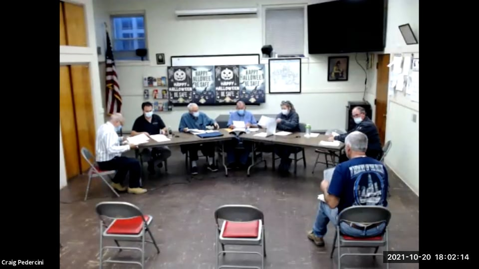 Williamstown Fire District Prudential Committee Meeting – 10.20.21