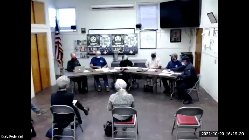 Williamstown Fire District Building Committee Meeting – 10.20.21