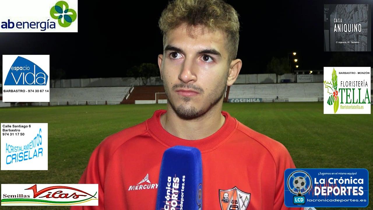 MARC GULIAS (Jugador UD Barbastro) Conocemos su opinión sobre la jugada de la polémica y el próximo partido frente al CD Cariñena