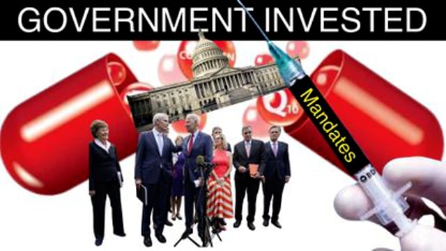 WHY IS THE GOVERNMENT HEAVILY INVESTED IN BIG PHARMA