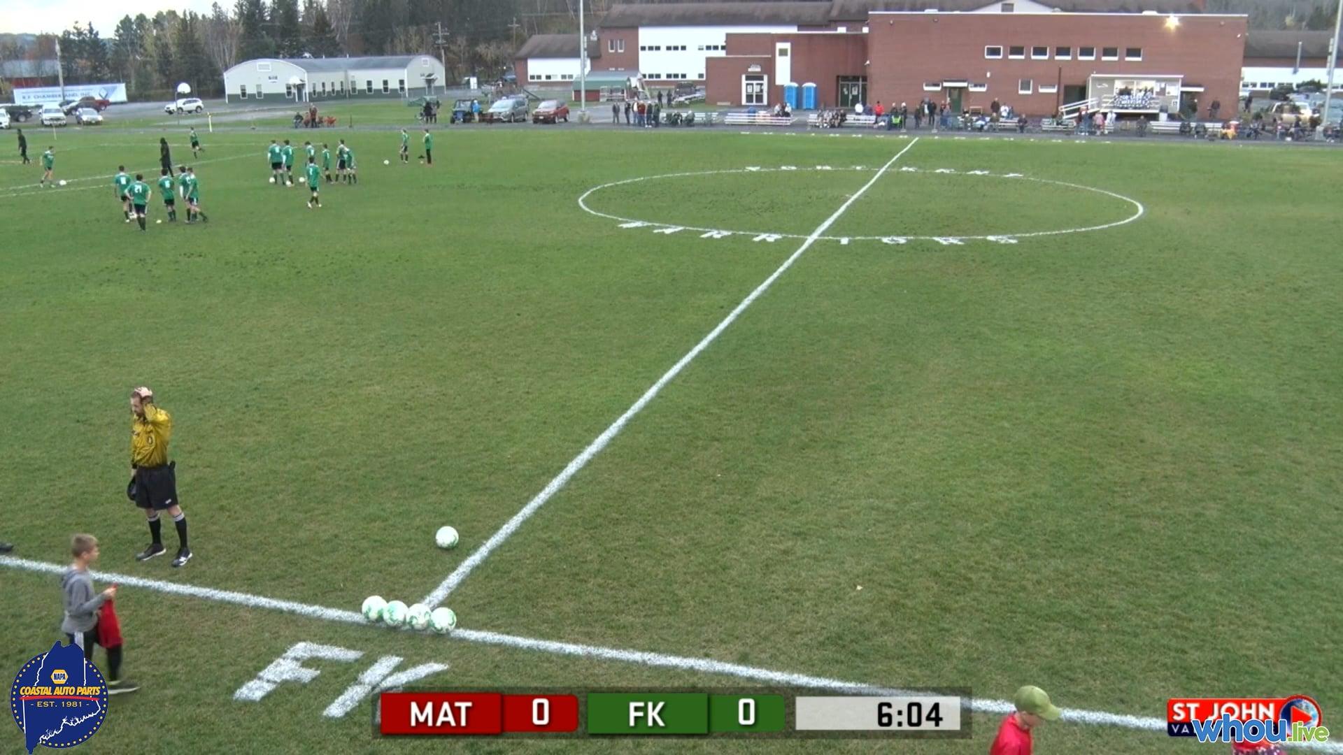 Mattanawcook at Fort Kent Boys Soccer 10-22-21
