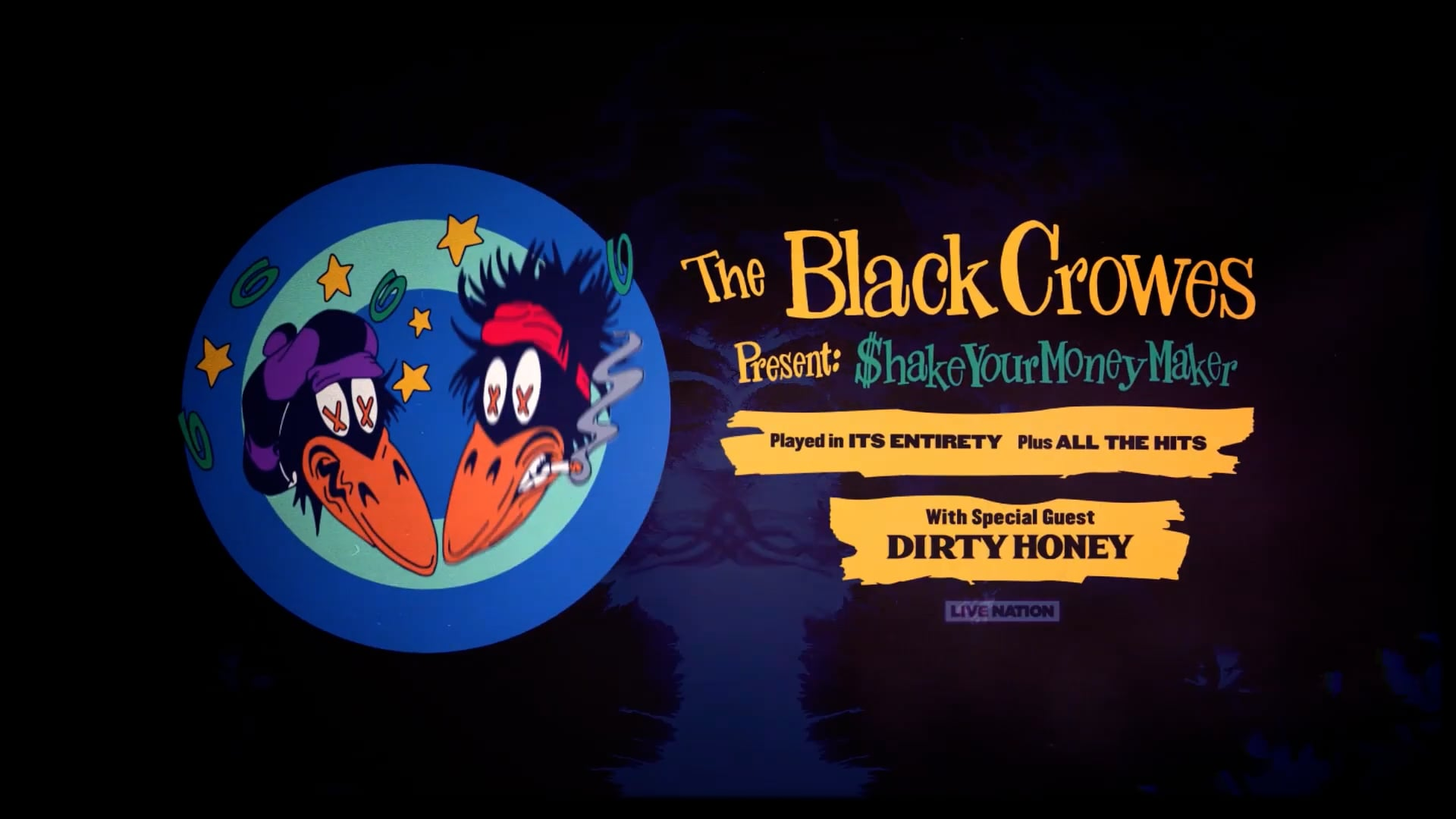 Live Nation: The Black Crowes Shake Your Money Maker Tour Promo