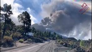 La Palma: crollo parziale del cono del vulcano Cumbre Vieja