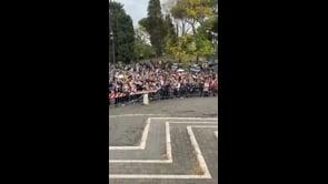 Grande protesta contro il Green Pass a Roma