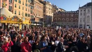Le immagini della protesta contro il Green Pass a Genova