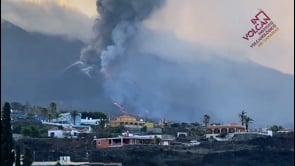 La Palma: l'eruzione del vulcano vista da Dos Pinos (Los Llanos de Aridane)