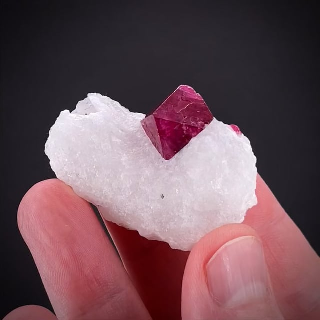 Spinel on Marble