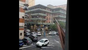 Nubifragio a Catania, strade allagate