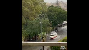 Nubifragio investe Catania, situazione drammatica