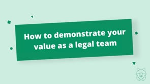 How do you demonstrate value?