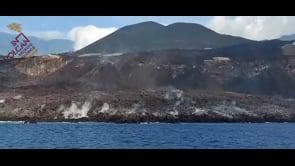 La Palma, il delta lavico visto dal mare