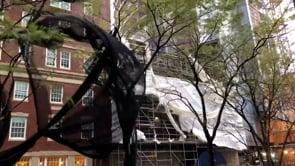 I forti venti del ciclone Nor'easter a Boston