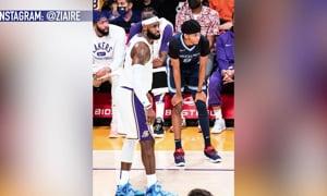 LeBron James Plays Against His Son's Teamate!