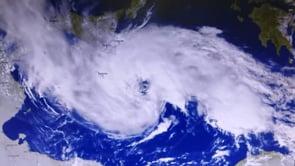 Il Medicane Apollo sale verso nord, le immagini dal satellite