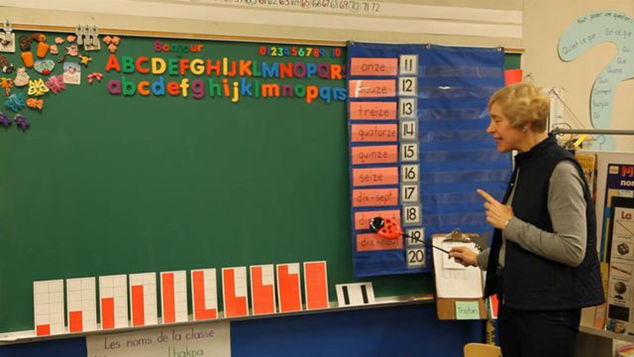 FR K1 Learning Teen Numbers