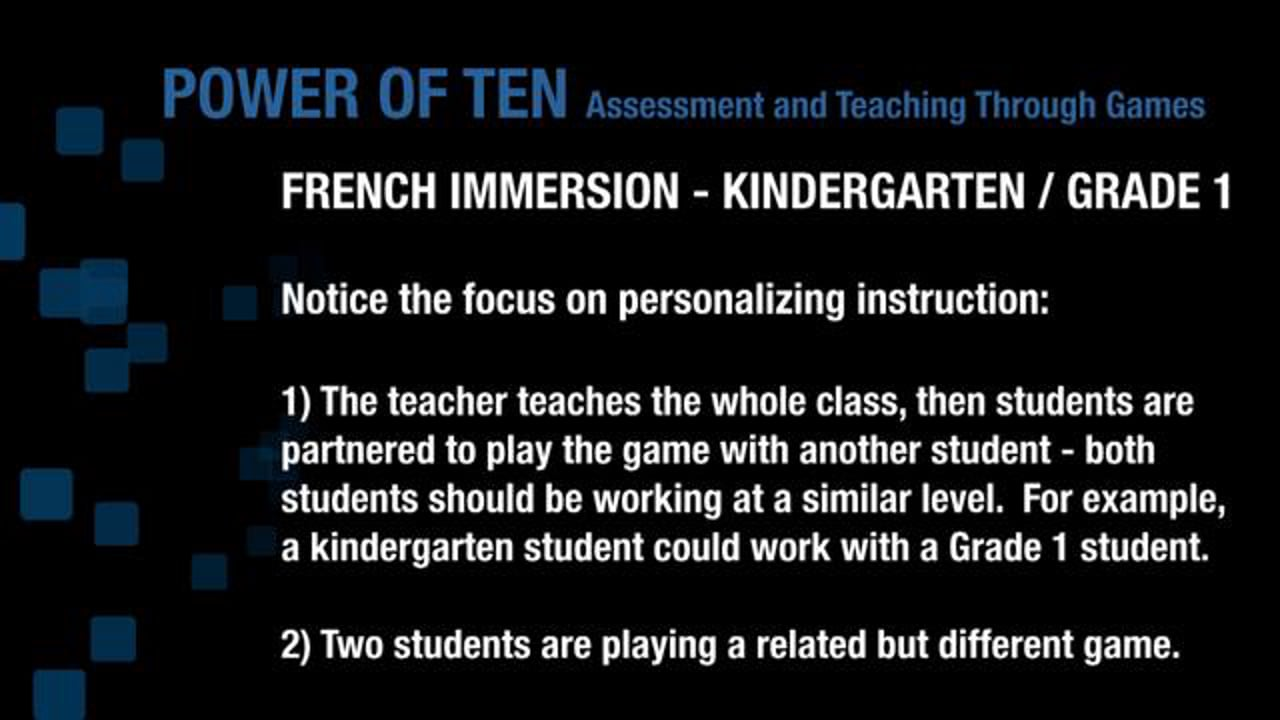 FR K1 Playing 'Power of Ten' and Differentiating Instruction