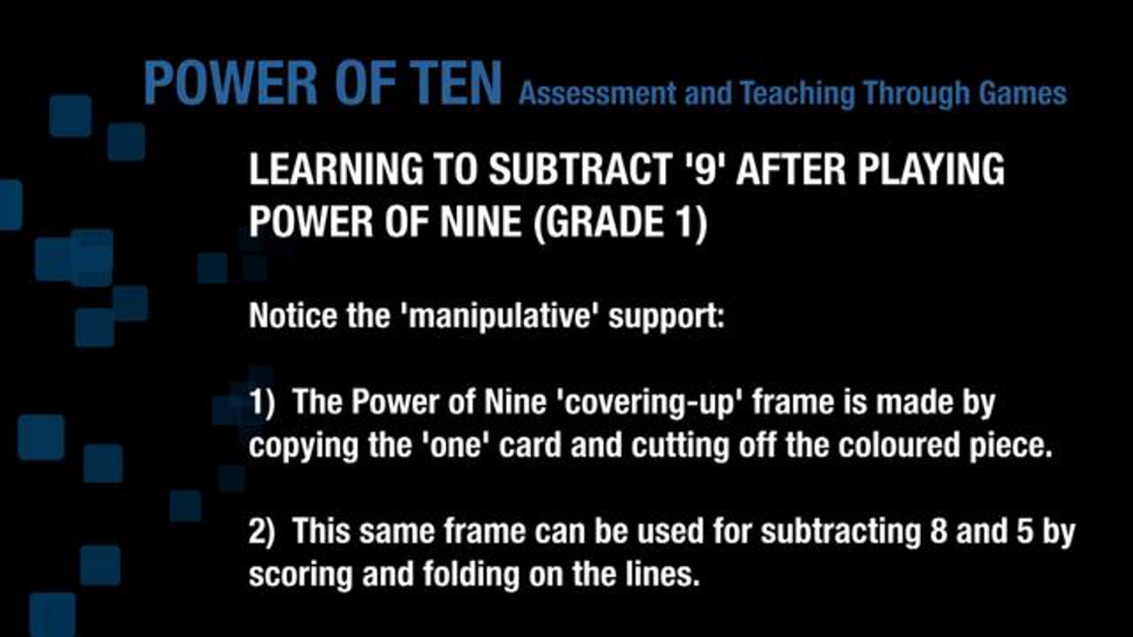 Teaching the Power of Nine - Subtraction