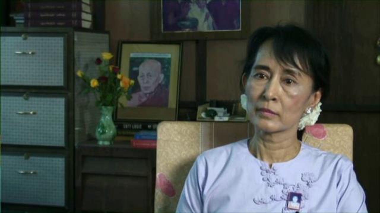 Aung San Suu Kyi interviewed by Ramsey Nasr after release from house arrest