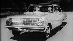 Rekord A 1963 - Der neue Opel Rekord Paar fährt durch Stadt
