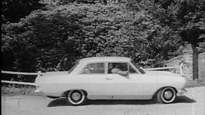 Rekord A 1964 - Ein eleganter Wagen Paar fährt zum Landhaus