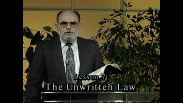 Inner Conflict - Lesson 7 - The Unwritten Law