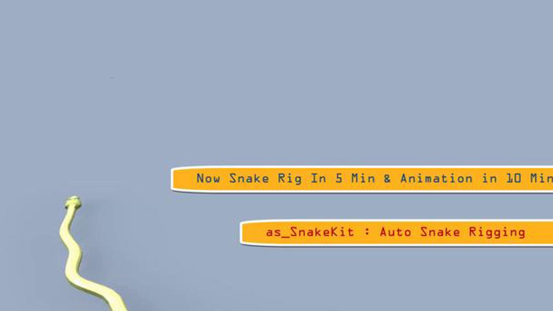 as_EasySnake : Snake Rigging Tools & Path Animation