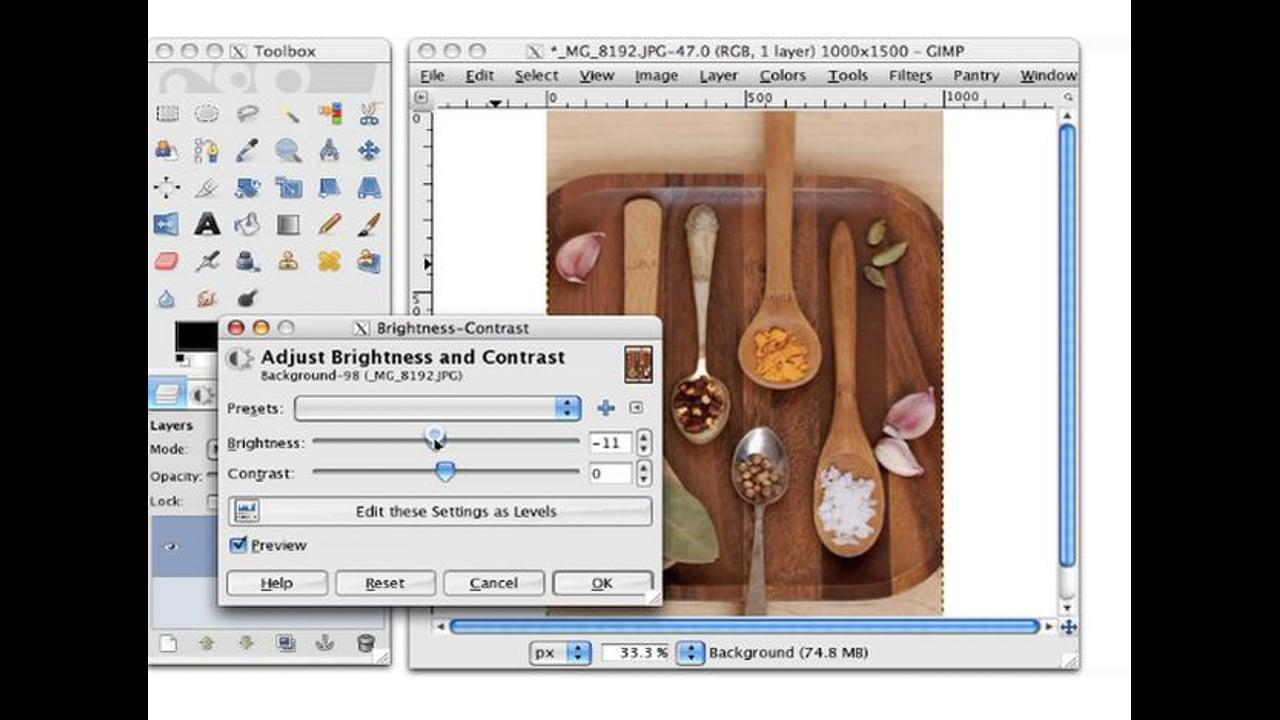 Using Brightness-Contrast
