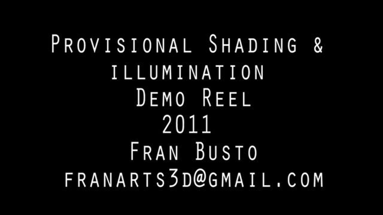 Provisional Shading Demo Reel 2011